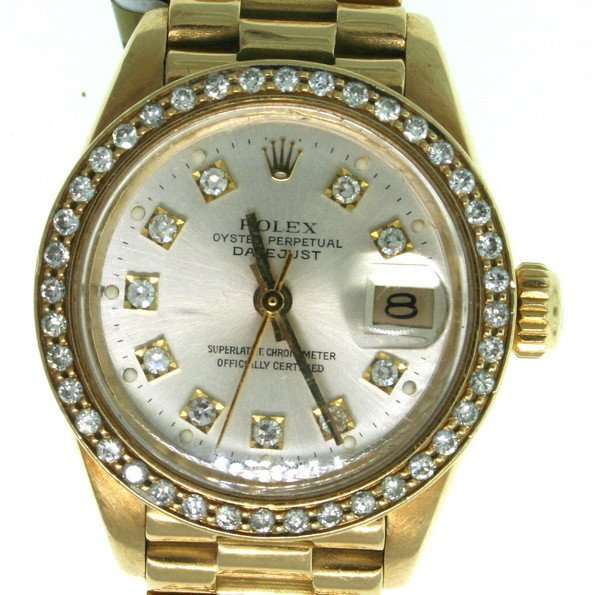 2X: Rolex Presidential 18kt Yellow Gold Diamond Watch