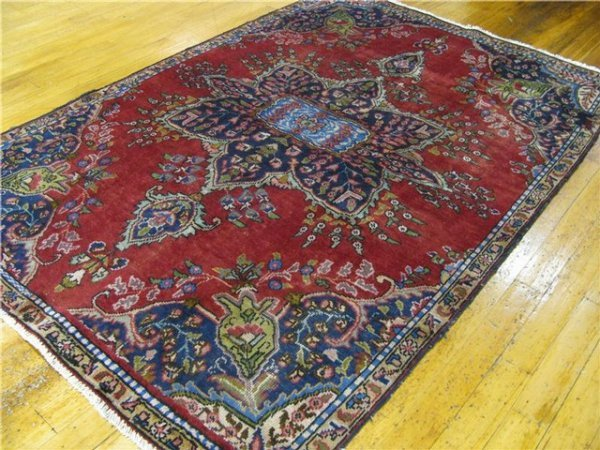 1H: Tabriz Persian Rug-  6 ft x 8 ft.