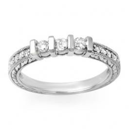 2W: Natural 0.55 ctw Diamond Ring 14K WG