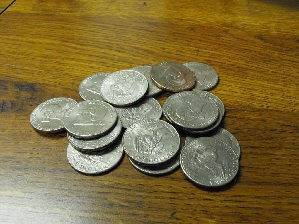 1D: Lot of 20 Ike Dollars