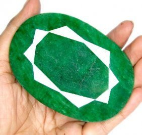 1K: MUSEUM SIZE 950 ct. Emerald Gemstone- $ 25k GG GIA