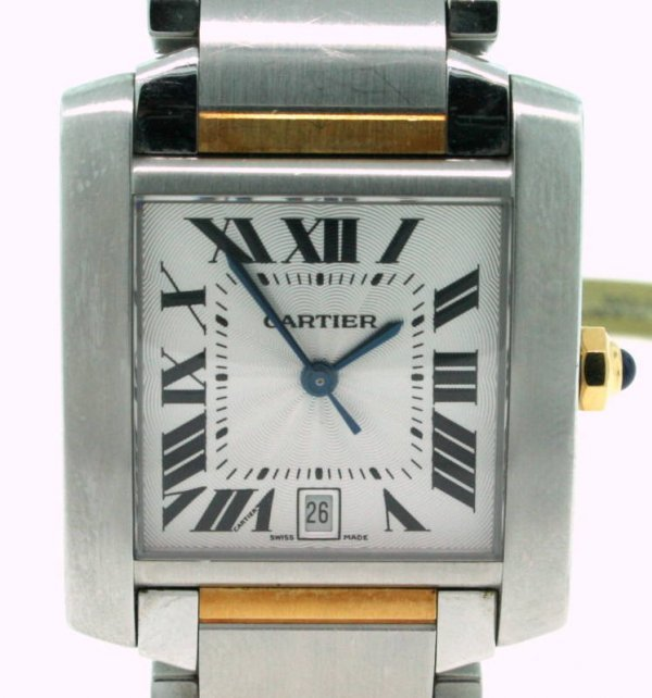 1Z: Cartier Gents Two Tone Tank Francaise Watch