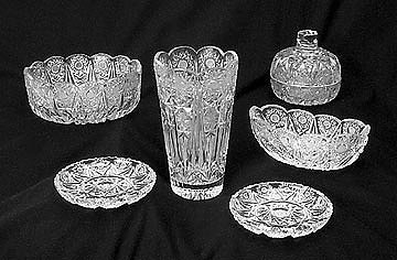1a: (5) Pc. Lot of Hand Cut Crystal