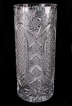 5A: Hand Cut European Crystal Umbrella Stand