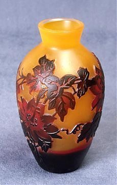 6A: Art Glass Cameo Style Vase