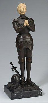 8A: Fine JOAN OF ARC Bronze Figure