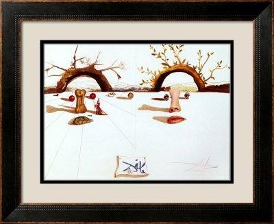 3U: Dali- Patient Lovers- Framed Art Print