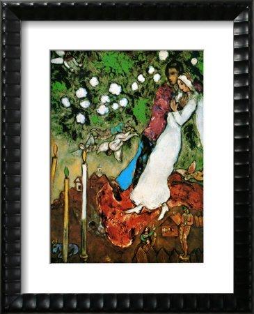6U: Chagall- 3 Candles- Framed Art Print
