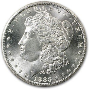 5: 1883 CC Uncirculated from Roll-1 coin