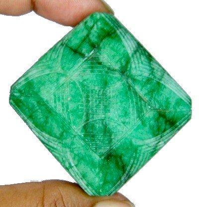 2K: 350 cts. Emerald Gemstone- Hand Carved