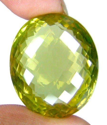4K: 50 ct. Flawless Lemon Citrine Gemstone