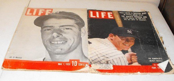2Z: (2) Original Life Magazines Mantle & DiMaggio