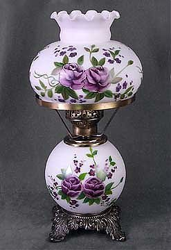 2E: Handpainted Floral Lamp