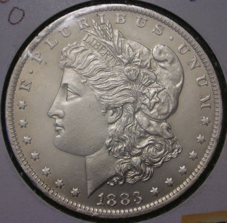 7: 1883 Uncirculated Morgan Silver Dollar