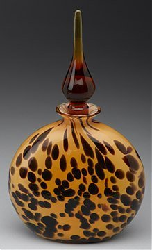5A: Tortoise Shell Style Glass Perfume Bottle