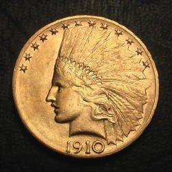 14D: $10 Gold Indian Raw- Random