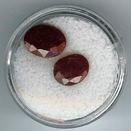 1: Pair of Near Match Ruby Gemstones-