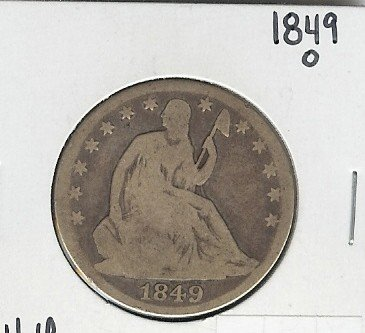 9: 1849 O Seated Liberty Half Dollar