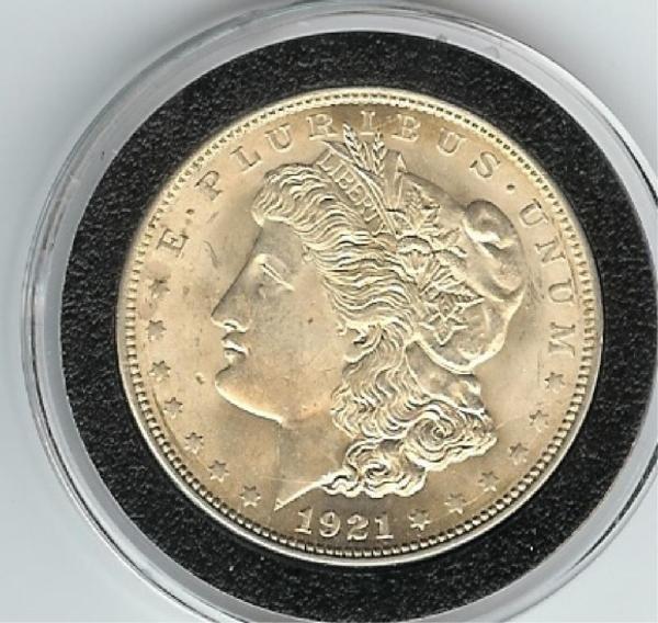 15: 1921 P Morgan Silver Dollar- UNC ?
