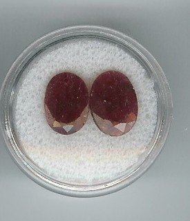 18: Pair of Near Match Natural Ruby Gemstones