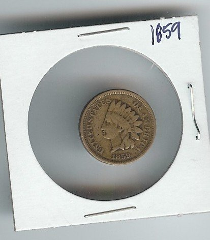 19: 1859 Indian Head Cent- Good to vg