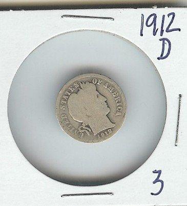 3A: 1912 D Barber Dime