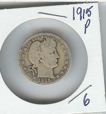 6A: 1915 P Barber Quarter