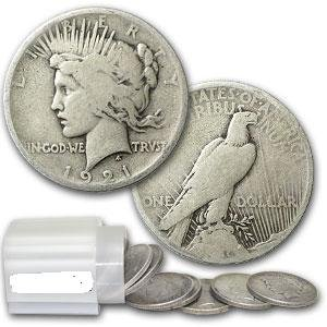 1X: LATE ADDITION! ROLL of 20 1921 PEACE Silver Dollars