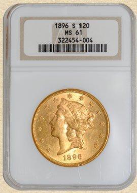 4Z: 1896-S $20 Liberty MS61 NGC