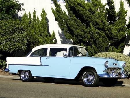 4W: 1955 CHEVROLET 210 327ci 4 SPEED, BELAIR TRIM