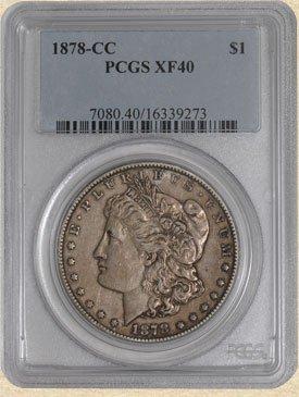 4A: 1878-CC Morgan $ XF40 PCGS