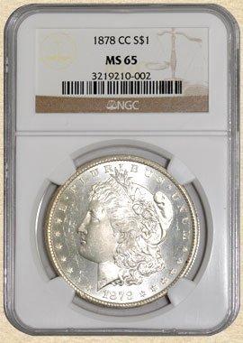 5A: 1878-CC Morgan $ MS65 NGC