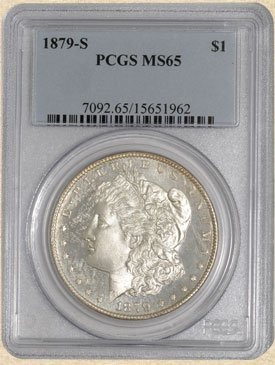 6A: 1879-S Morgan $ MS65 PCGS