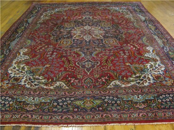 2H: Tabriz Persian Hand Tied Rug - Room Size