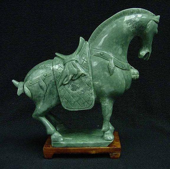 1Q: JADE SADDLED TANG HORSE