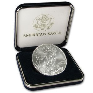 6X: One Ounce Silver Eagle in Case- Various Years