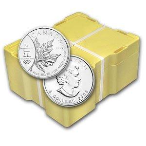 35X:  (1 oz) Silver Maple Leaf - 500 ct. Box