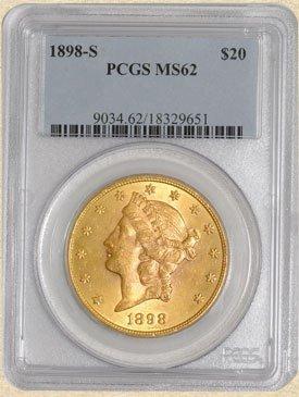 12N: 1898-S $20 Liberty MS62 PCGS