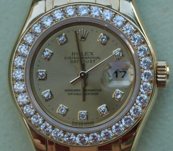 1E: Diamond Rolex Watch - Model# 69298 - Unbelievable!
