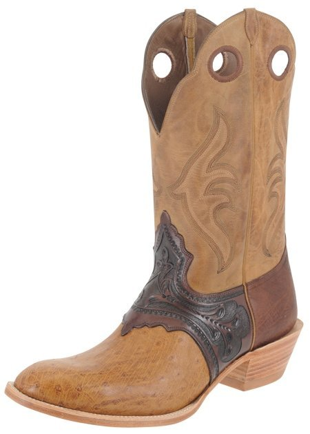 7V: Ostrich and Leather Cowboy Boot UN WORN! SIZE11.5 E