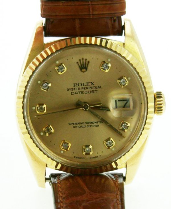 2A: Fine 1970's Man's ROLEX Watch- Datejust - Champag