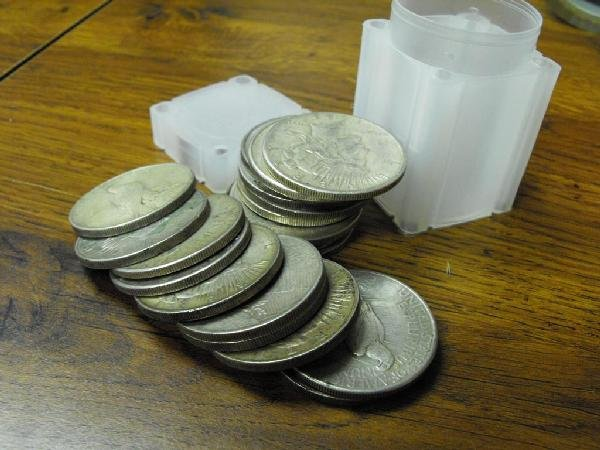7: Roll of 20 Peace Silver Dollars