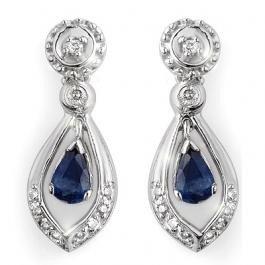 8V: 1.36 ctw Blue Sapphire & Diamond Earrings