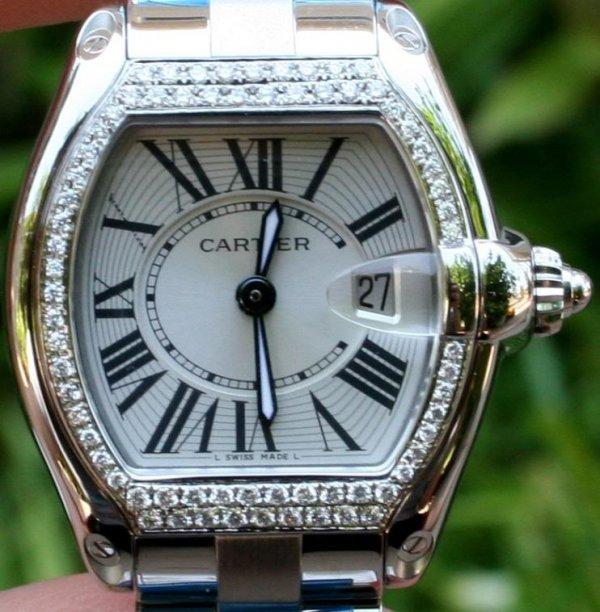 1A: Cartier Womens Roadster w/ Diamonds - $ 24K GG GIA