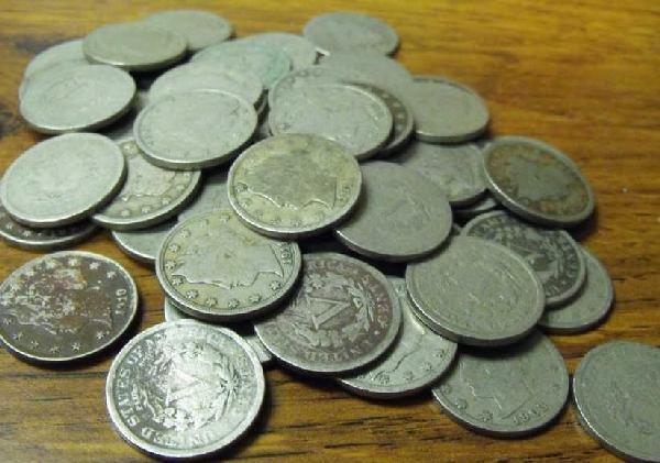 3: Lot of 50 V Nickels