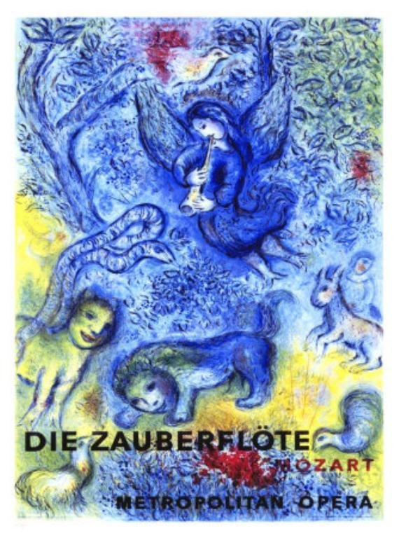 4P: The Magic Flute by Chagall  - Exhibit Giclee