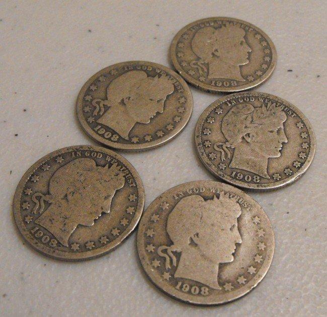 9: (5) 1908 Barber Quarters