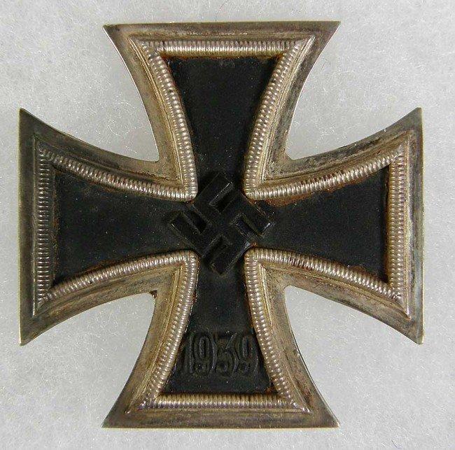 5X: World War II Iron Cross 1st Class. Shows wear. Unma