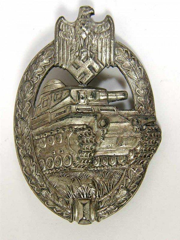 8X: Panzer Assault Badge in Silver by Adolf Schwerdt