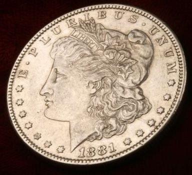 7: 1881 O Morgan Silver Dollar UNC